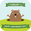 Groundhogs Day Badge